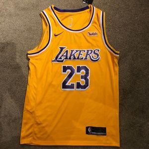 New Nike Lebron James Lakers Swingman Jersey sz M